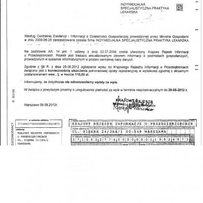 Nie płać Krajowemu Rejestrowi Informacji o Przedsiębiorcach!