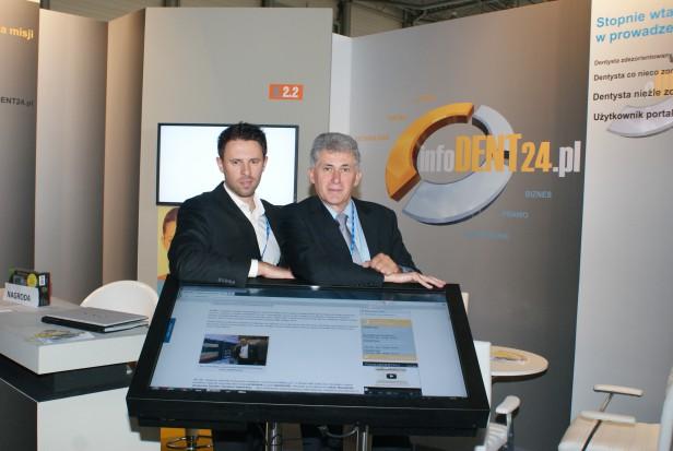 Łukasz Sowa i Mirosław Stańczyk (od lewej), czyli infoDENT24.pl na CEDE 2012