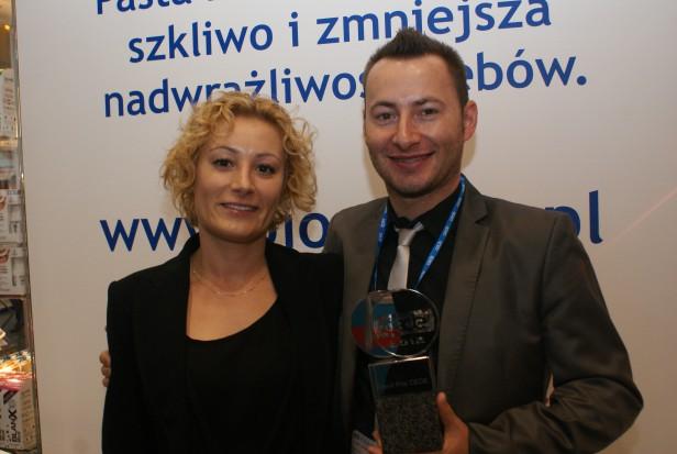 Adam Wysokiński oraz Barbara Wysokińska (A.B. Berren) ze statuetką GRAND PRIX CEDE 2012