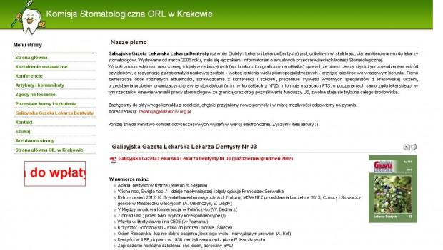 GGLLD o nakładach NFZ na stomatologię w 2013 r. w Małopolsce