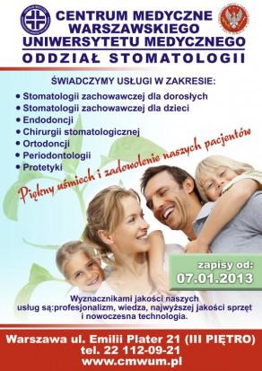 Centrum Medyczne WUM ma nowy oddział stomatologii (fot. CM WUM)