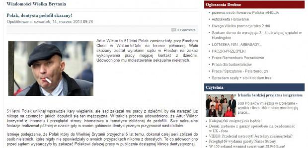 Polski dentysta skazany przez walijski sąd