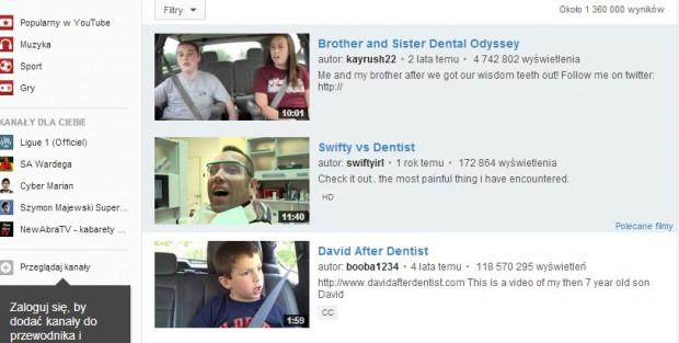 Pacjenci boją się przez YouTube