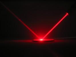Krótka prezentacja bakterii w świetle lasera