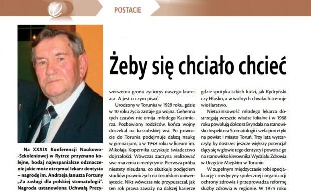Sylwetki stomatologii. Kazimierz Bryndal