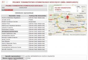 Polskie Towarzystwo Stomatologii Dziecięcej zarejestrowane