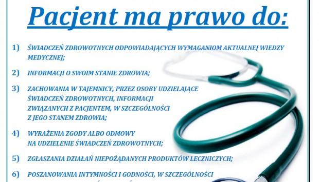 Zawieś plakat o prawach pacjenta!