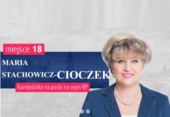 Kandydaci do Sejmu: lekarz dentysta Maria Stachowicz – Cioczek