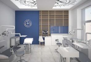 Nowoczesne materiały w gabinetach – sufit a oświetlenie
