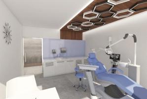 Maluj gabinet dentystyczny z psychologiem
