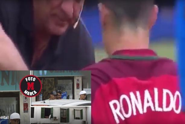 Cristiano Ronaldo leczy kolano u dentysty