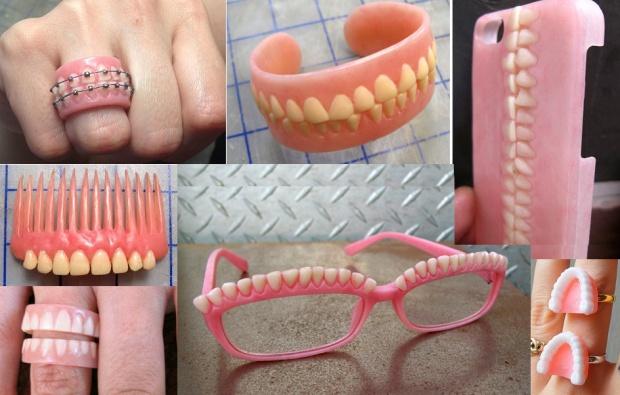 Biżuteria robiona ze stomatologicznych protez? Czemu nie!