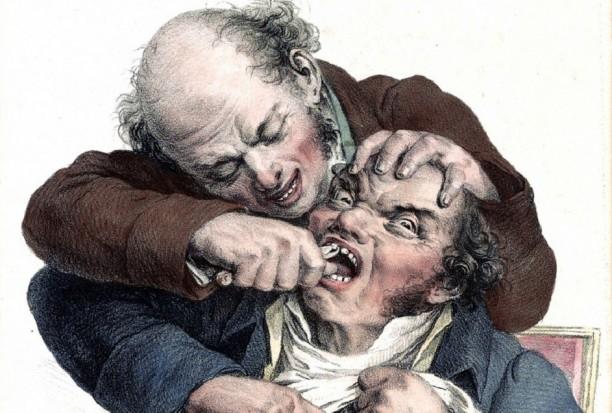 Gabinet stomatologiczny sprzed wieków w noc muzeów