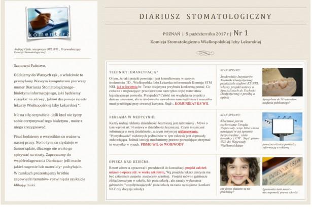 Diariusz Stomatologiczny w zawieszeniu