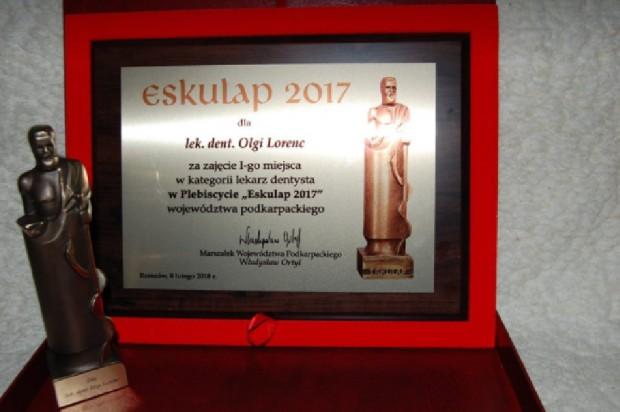 """Dentystka Olga Lorenc triumfuje w plebiscycie """"Eskulap 2017"""""""