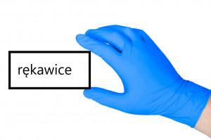Załóż na ręce gumę butadienowo-akrylonitrylową