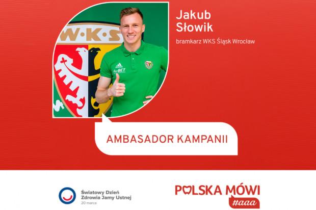 """Bramkarz Śląska Wrocław ambasadorem kampanii """"Polska mówi #aaa"""""""