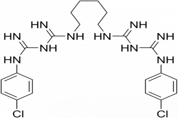 Chlorheksydyna na widelcu