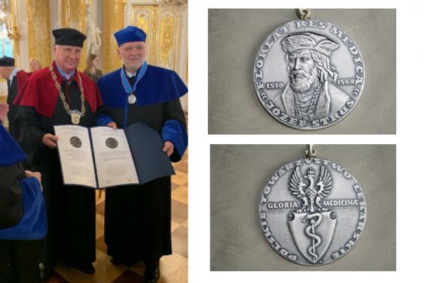 Robert Stępień uhonorowany Medalem Gloria Medicinae