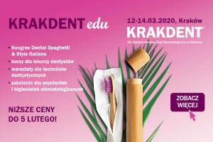 KRAKDENT-edu: potężna dawka wiedzy - do 5 lutego w najkorzystniejszych cenach