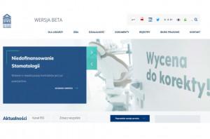 Korporacja zawodowa z nową stroną www (także dla lekarzy dentystów)