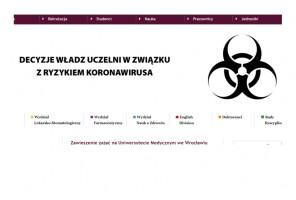 Koronawirus: władze UM we Wrocławiu wstrzymują zajęcia dydaktyczne