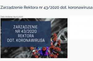 Koronawirus: WUM ogranicza działalność dydaktyczną i naukową
