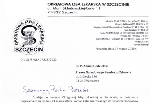 Koronawirus: ORL w Szczecinie reprezentuje dentystów w rozmowach z NFZ