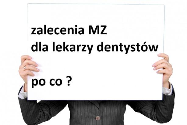Koronawirus: zalecenia MZ, dotyczące zasad przyjmowania pacjentów u dentysty - zbędne