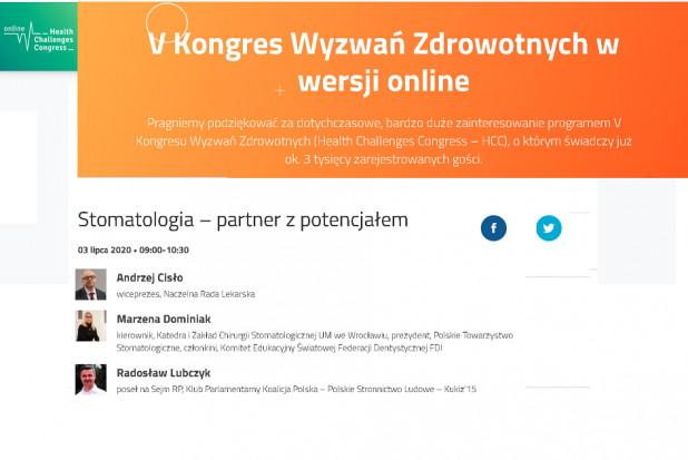 """Zamiast być zdezorientowanymi, bądźmy uczestnikami Sesji """"Stomatologia: partner z potencjałem"""""""