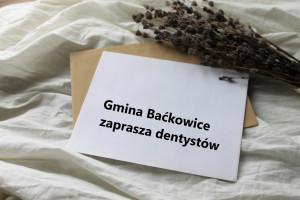 Gmina Baćkowice zaprasza lekarzy dentystów